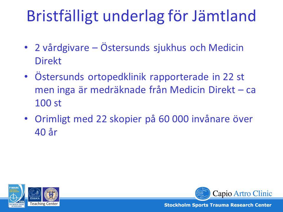 Bristfälligt underlag för Jämtland