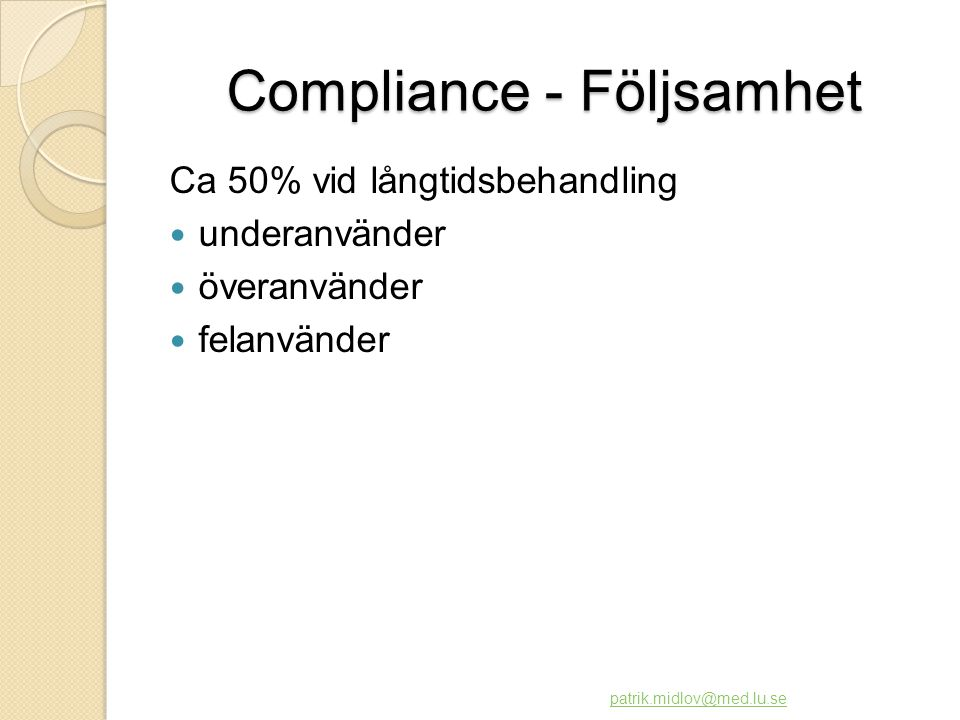 Compliance - Följsamhet