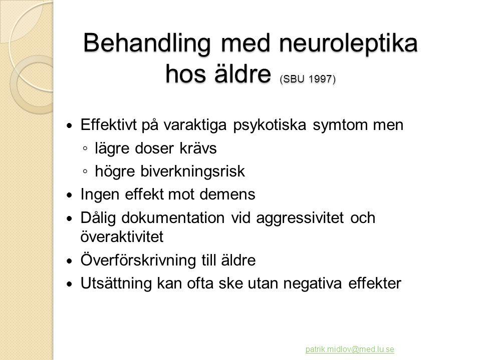 Behandling med neuroleptika hos äldre (SBU 1997)