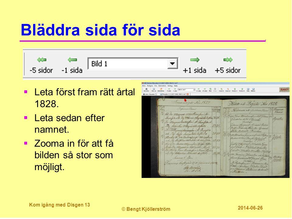 Bläddra sida för sida Leta först fram rätt årtal 1828.