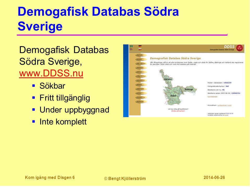 Demogafisk Databas Södra Sverige