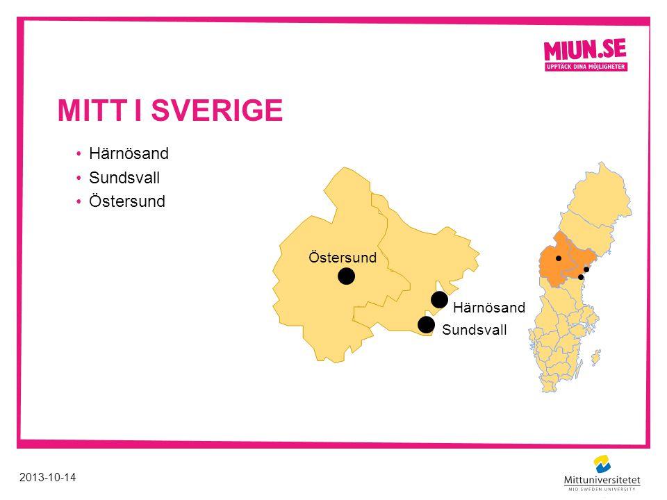 Mitt i sverige Härnösand Sundsvall Östersund Östersund Härnösand