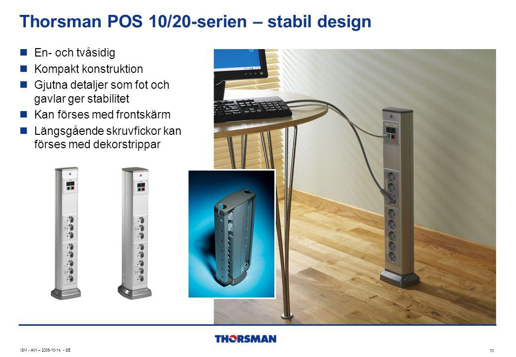Thorsman POS 10/20-serien – stabil design