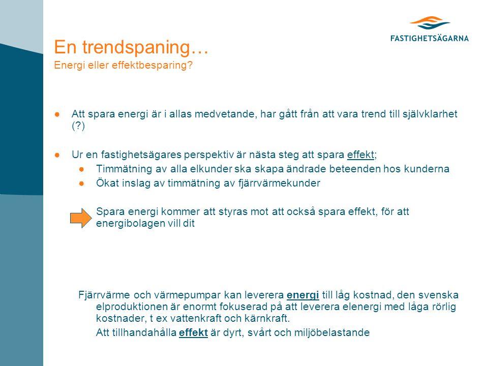 En trendspaning… Energi eller effektbesparing