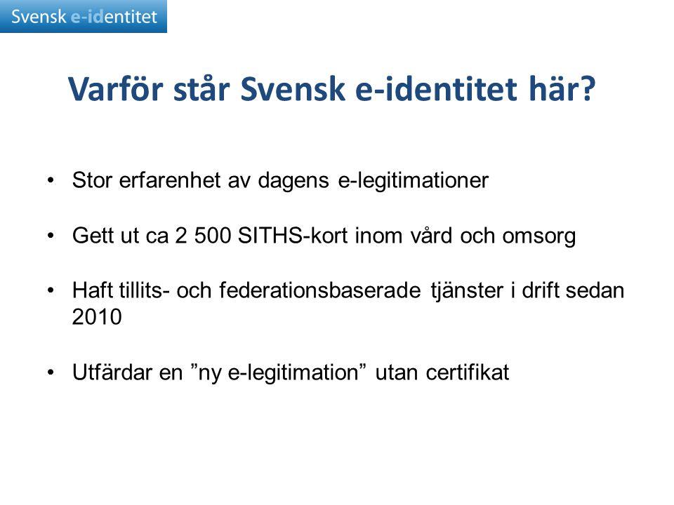 Varför står Svensk e-identitet här