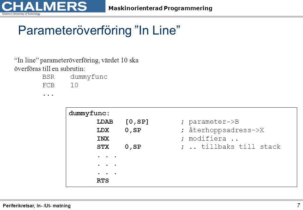 Parameteröverföring In Line