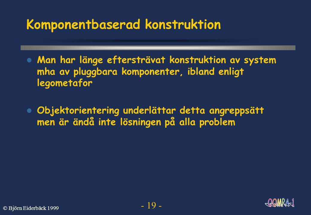 Komponentbaserad konstruktion