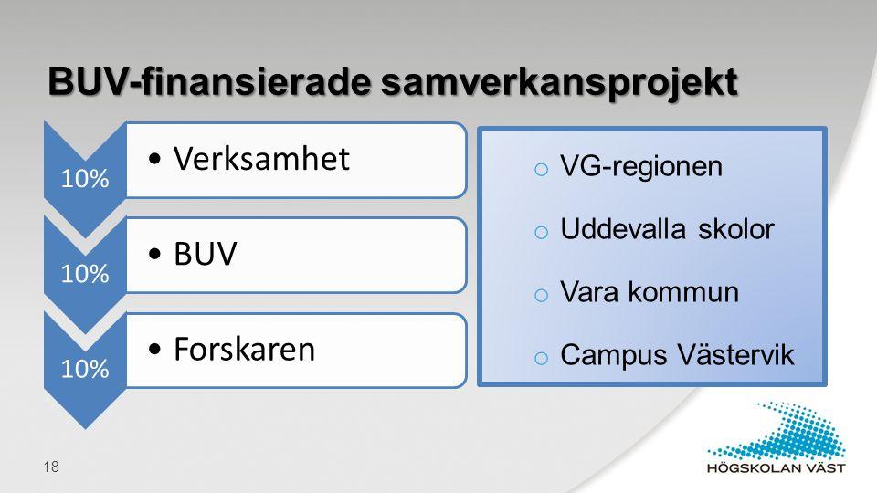 BUV-finansierade samverkansprojekt