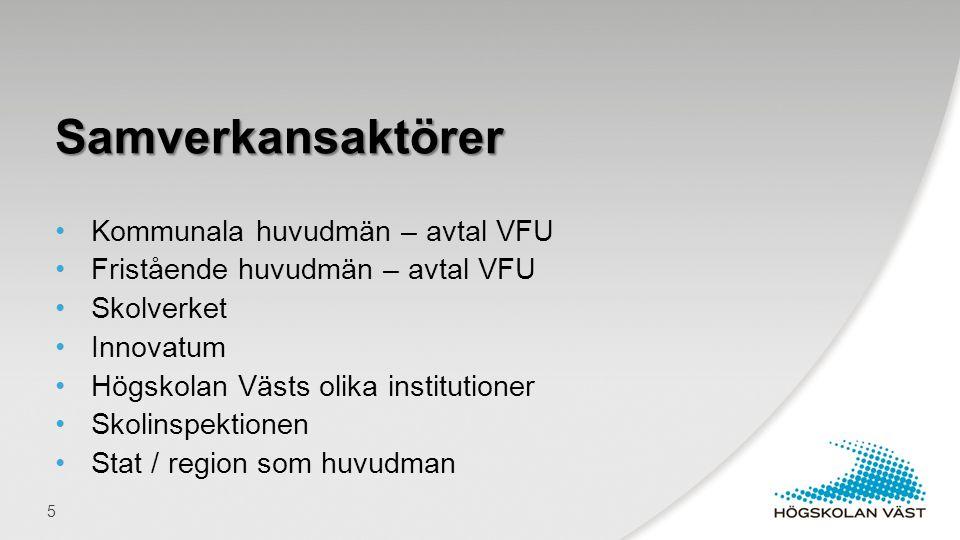 Samverkansaktörer Kommunala huvudmän – avtal VFU