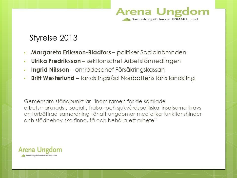 Styrelse 2013 Margareta Eriksson-Bladfors – politiker Socialnämnden