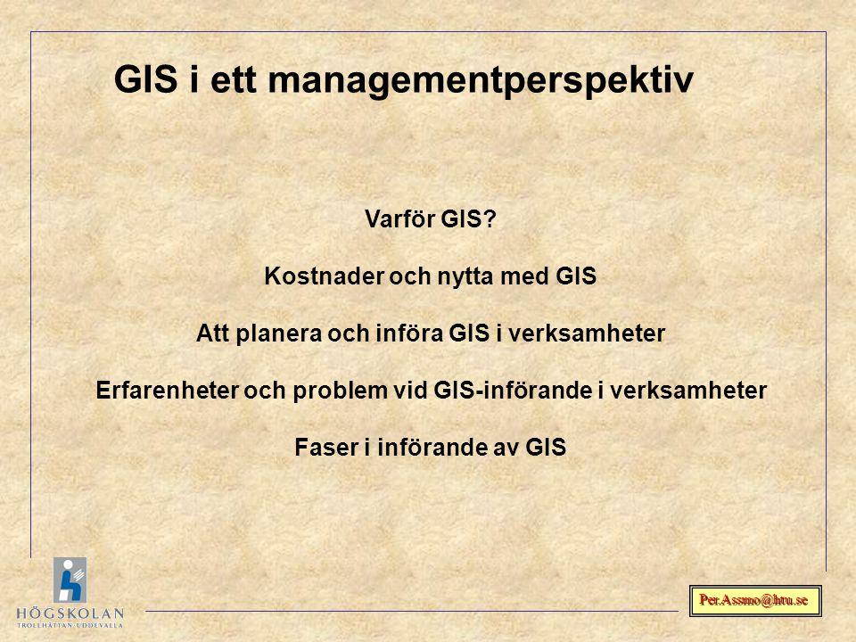 GIS i ett managementperspektiv