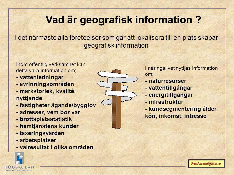 Vad är geografisk information