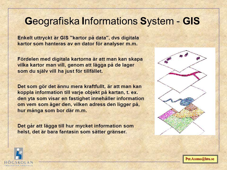 Geografiska Informations System - GIS