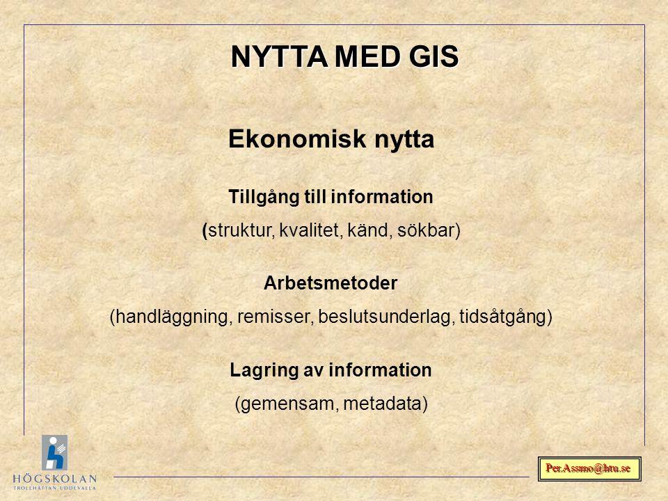 Tillgång till information Lagring av information