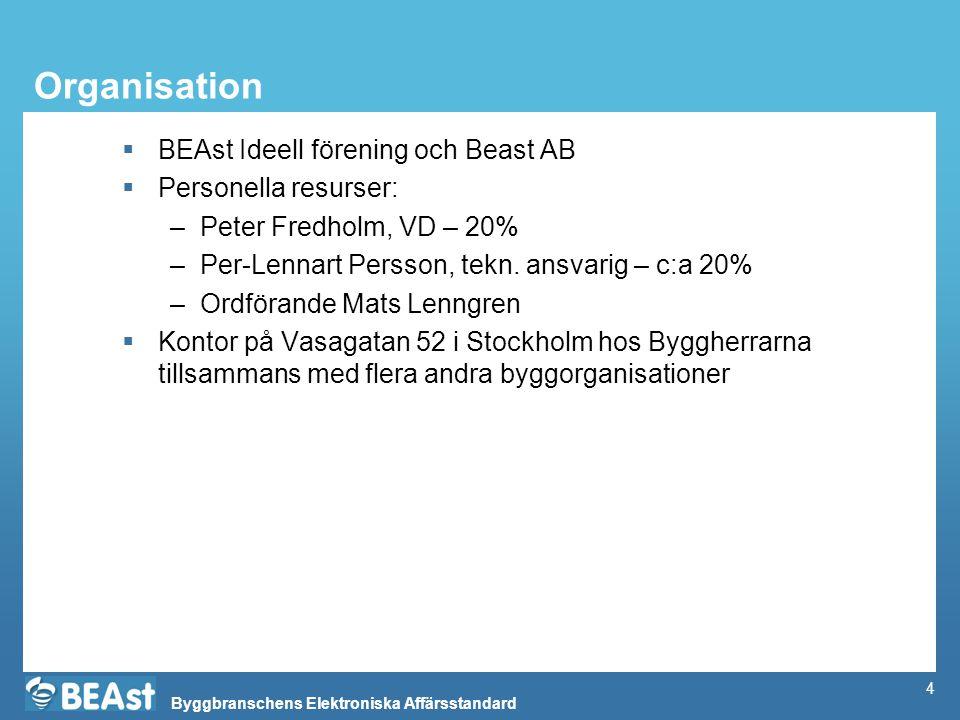 Organisation BEAst Ideell förening och Beast AB Personella resurser: