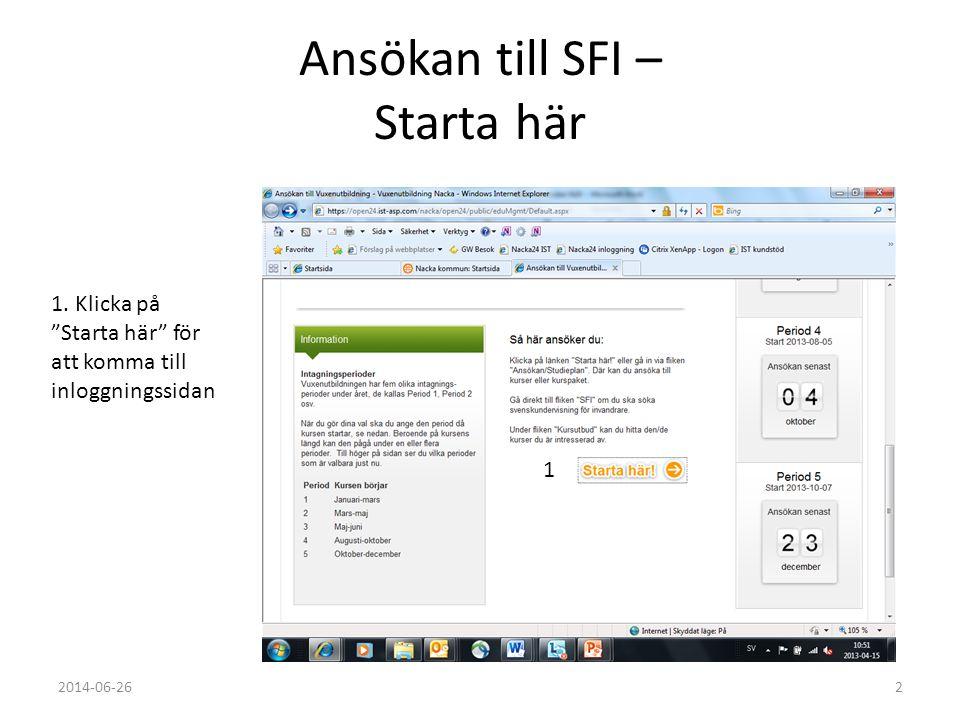 Ansökan till SFI – Starta här