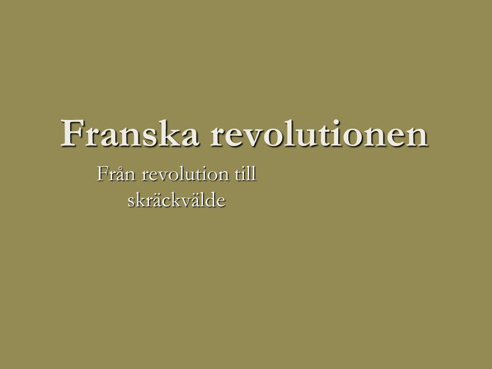 Från revolution till skräckvälde