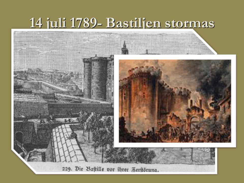 14 juli 1789- Bastiljen stormas