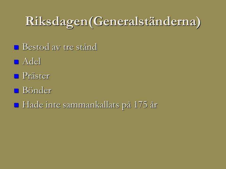 Riksdagen(Generalständerna)