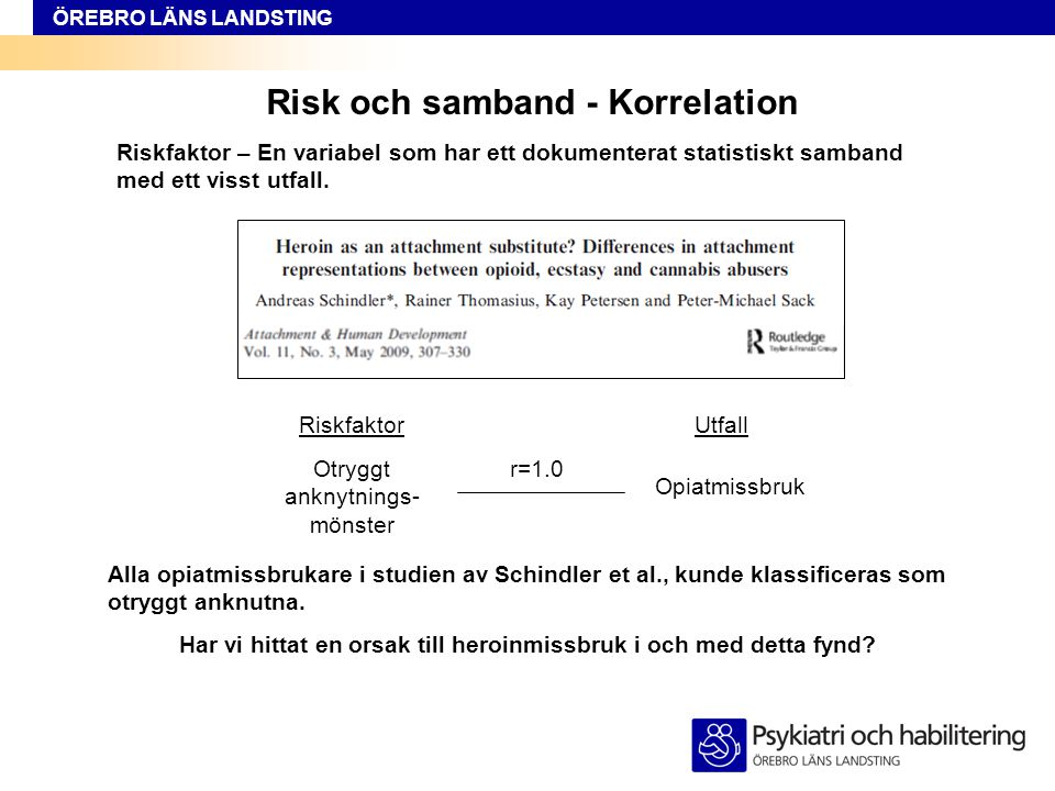 Risk och samband - Korrelation
