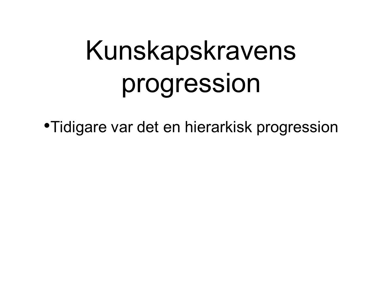 Kunskapskravens progression