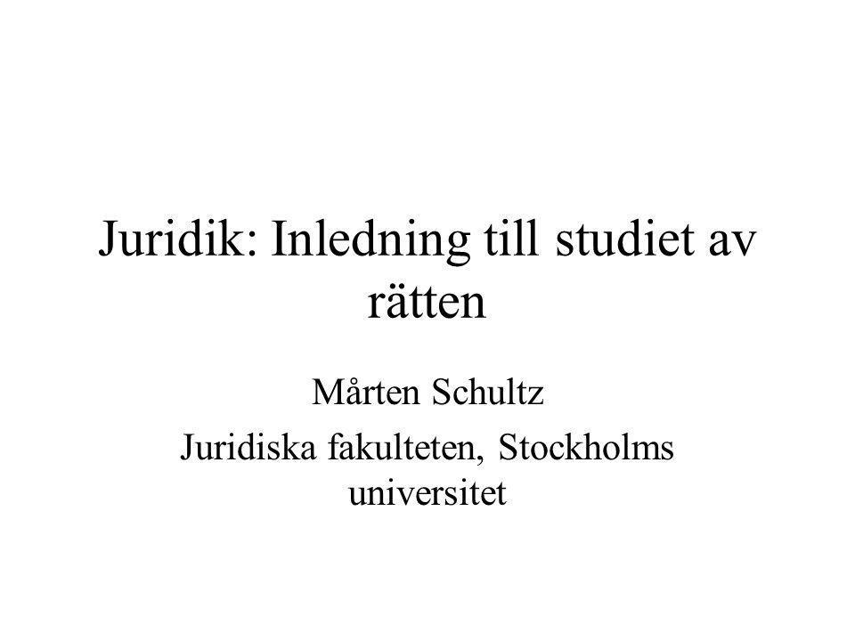 Juridik: Inledning till studiet av rätten