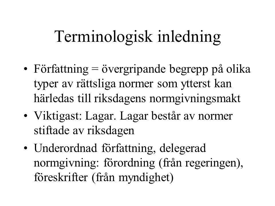 Terminologisk inledning
