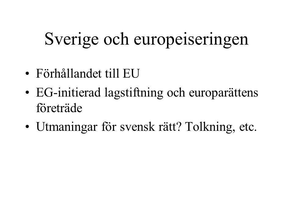 Sverige och europeiseringen