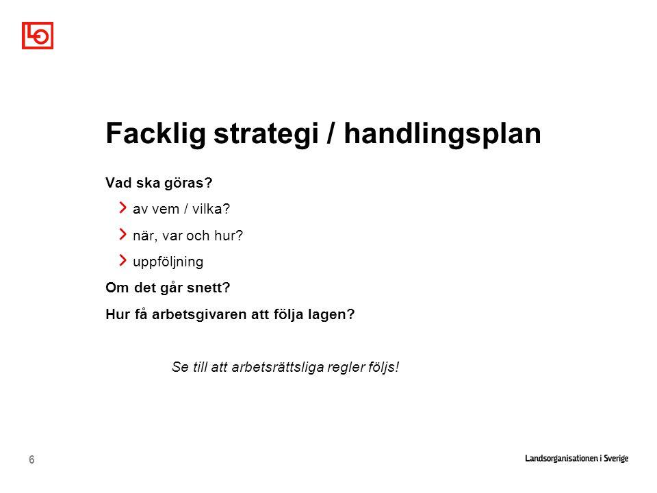 Facklig strategi / handlingsplan