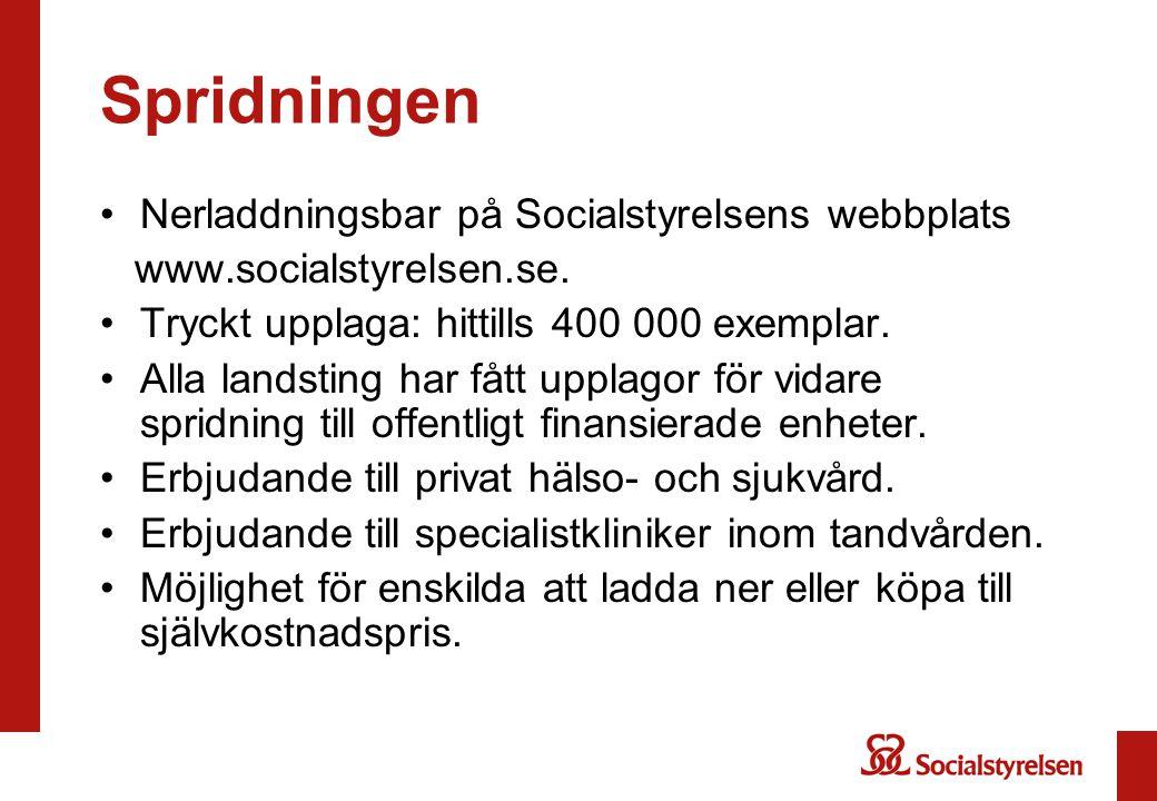 Spridningen Nerladdningsbar på Socialstyrelsens webbplats