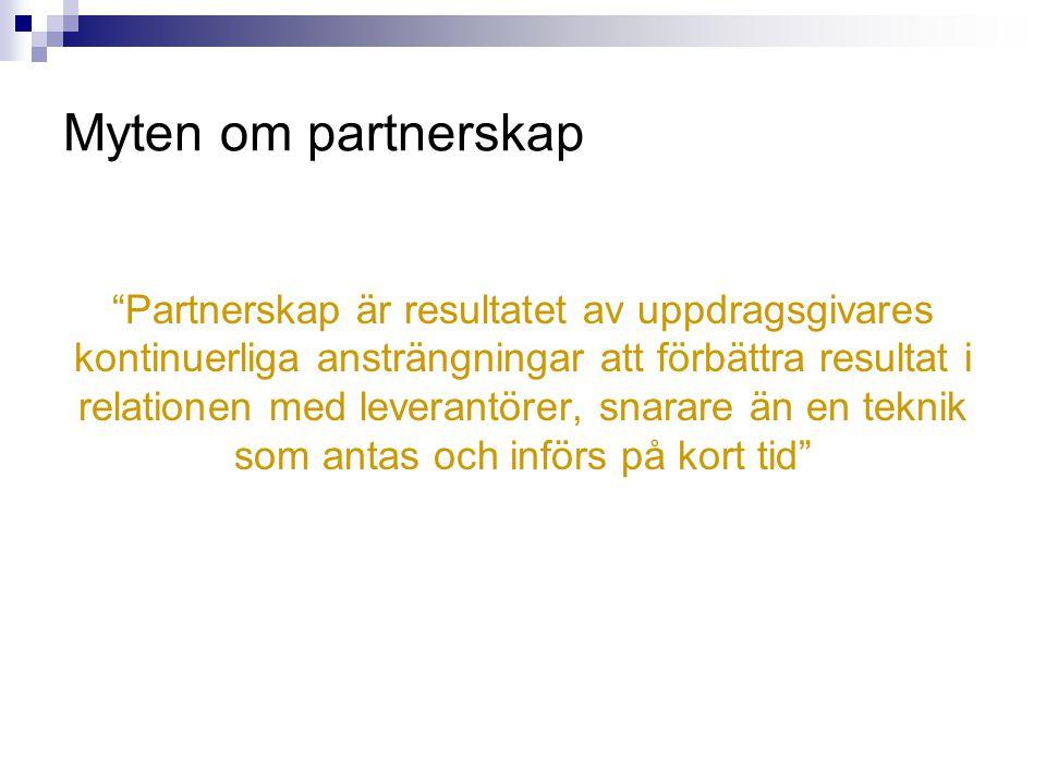 Myten om partnerskap