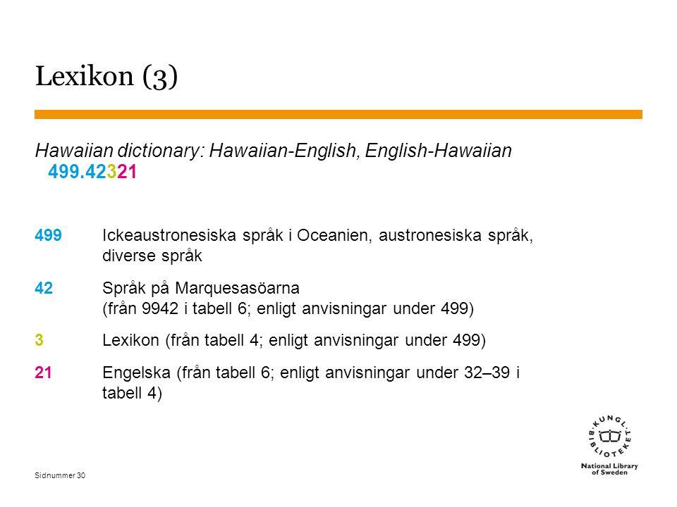 Lexikon (3) Hawaiian dictionary: Hawaiian-English, English-Hawaiian 499.42321.