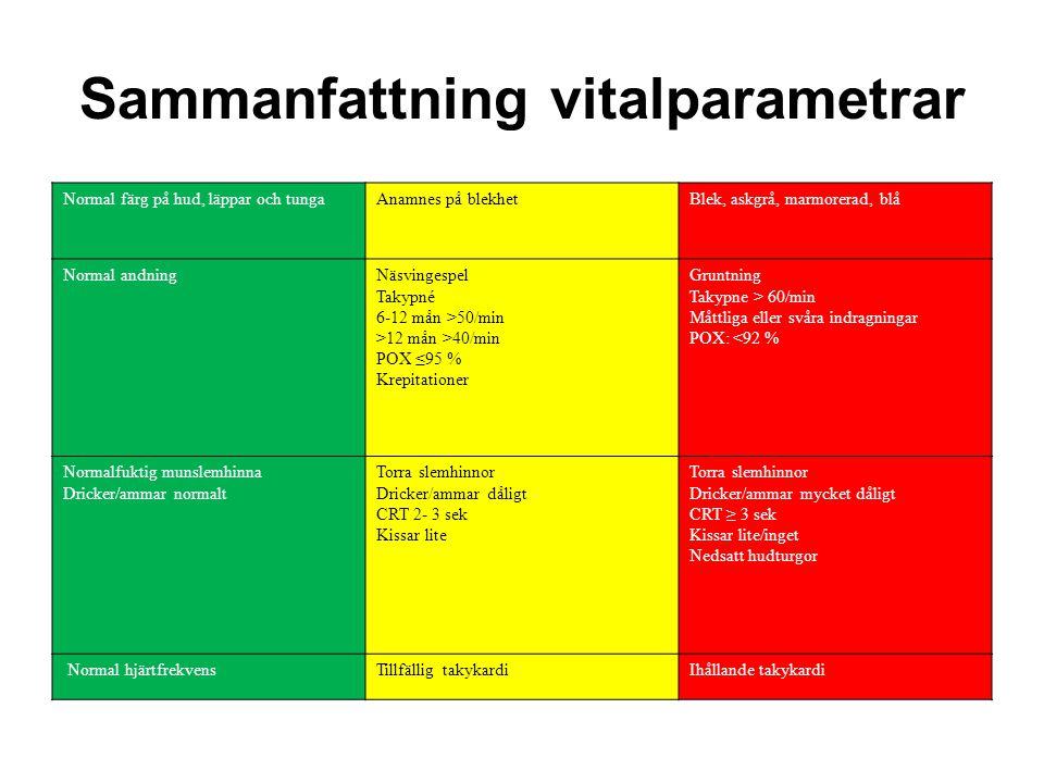 Sammanfattning vitalparametrar