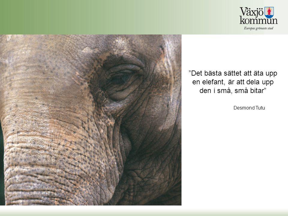 Det bästa sättet att äta upp en elefant, är att dela upp den i små, små bitar