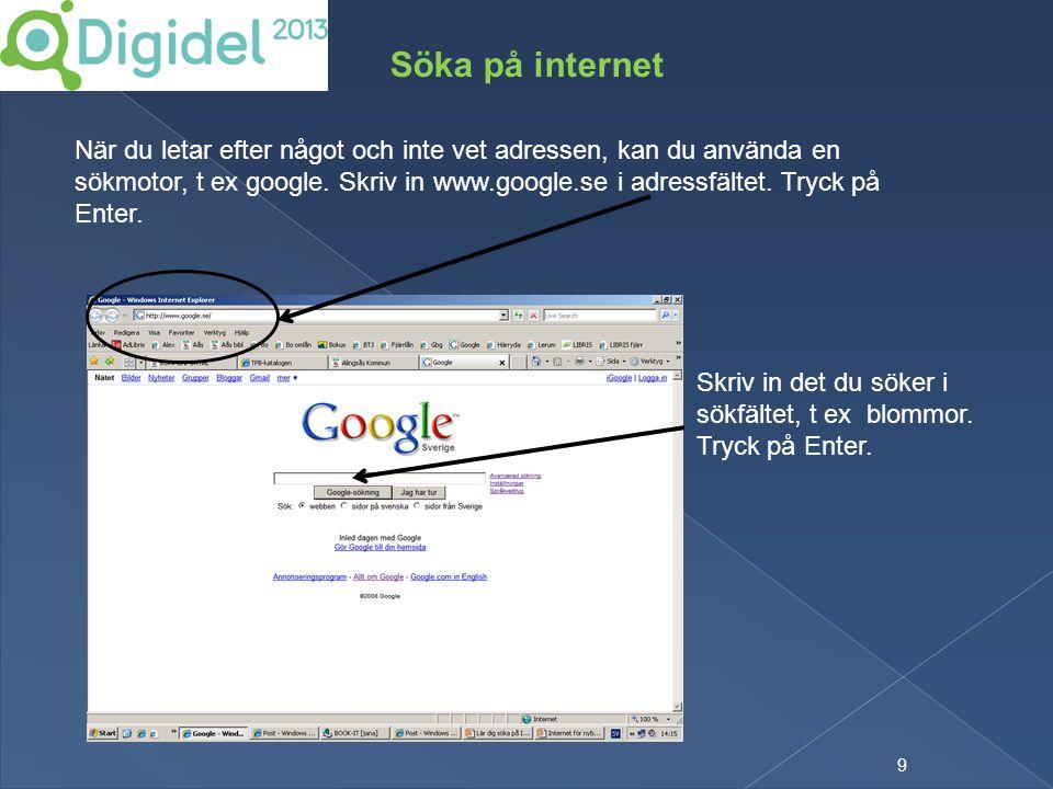 Söka på internet