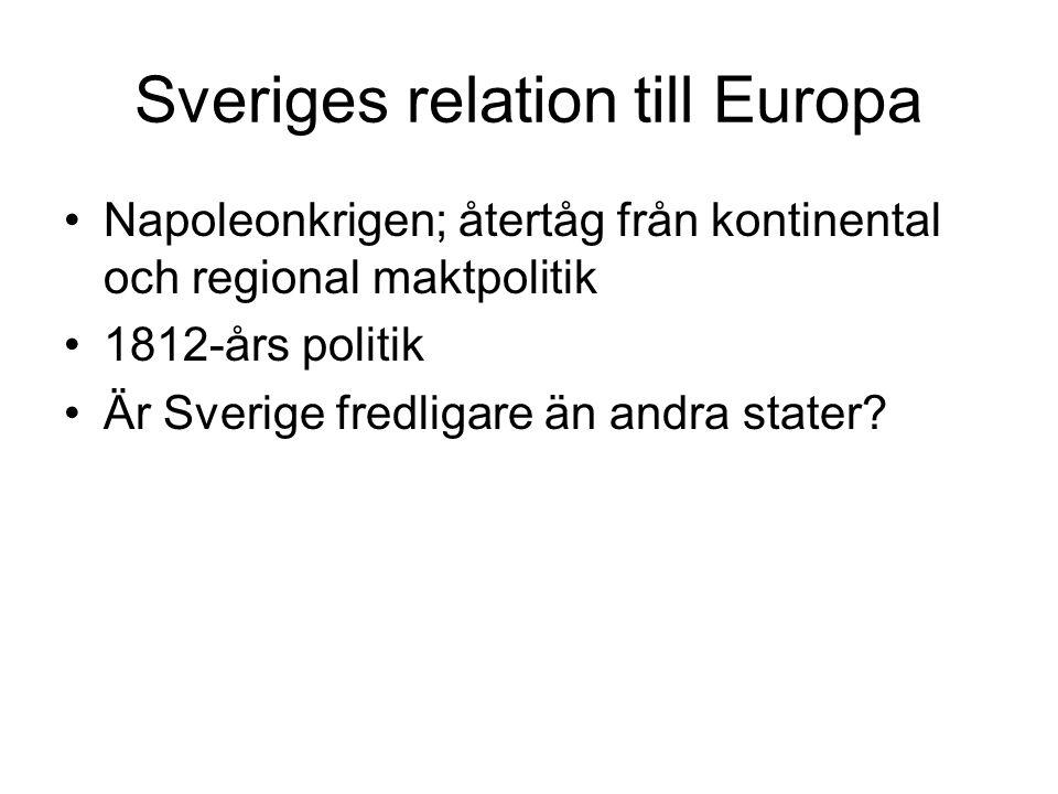 Sveriges relation till Europa