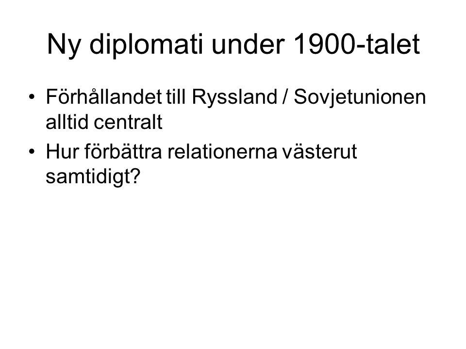 Ny diplomati under 1900-talet