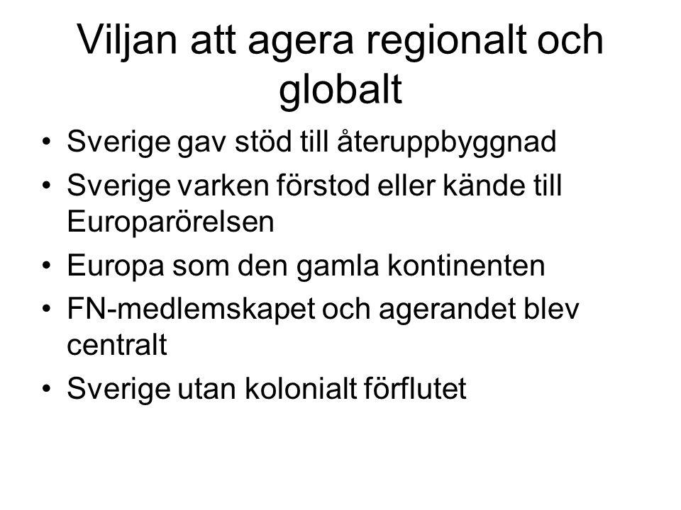 Viljan att agera regionalt och globalt