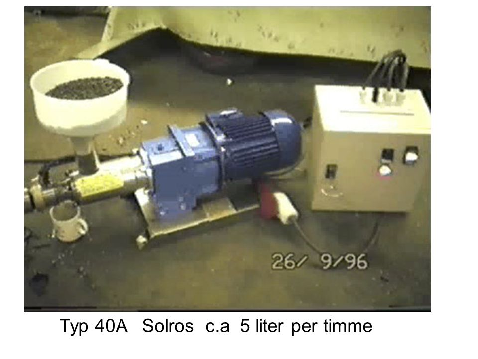 Typ 40A Solros c.a 5 liter per timme