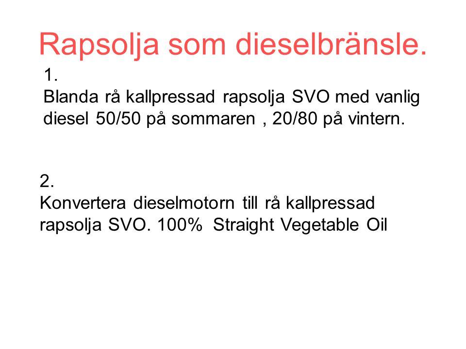 Rapsolja som dieselbränsle.