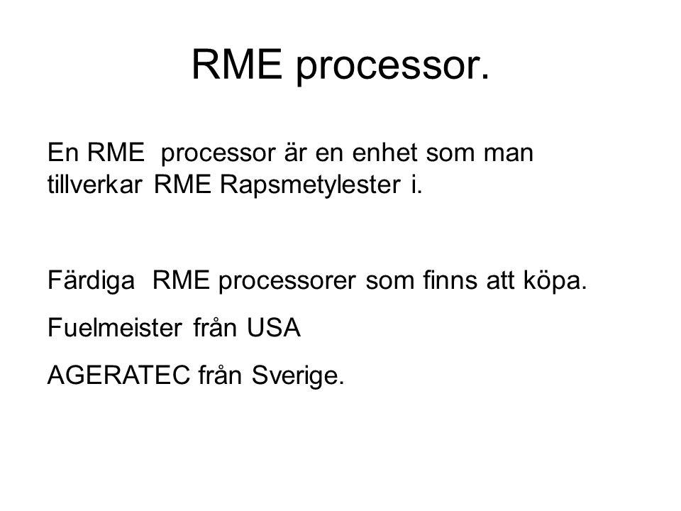 RME processor. En RME processor är en enhet som man tillverkar RME Rapsmetylester i. Färdiga RME processorer som finns att köpa.