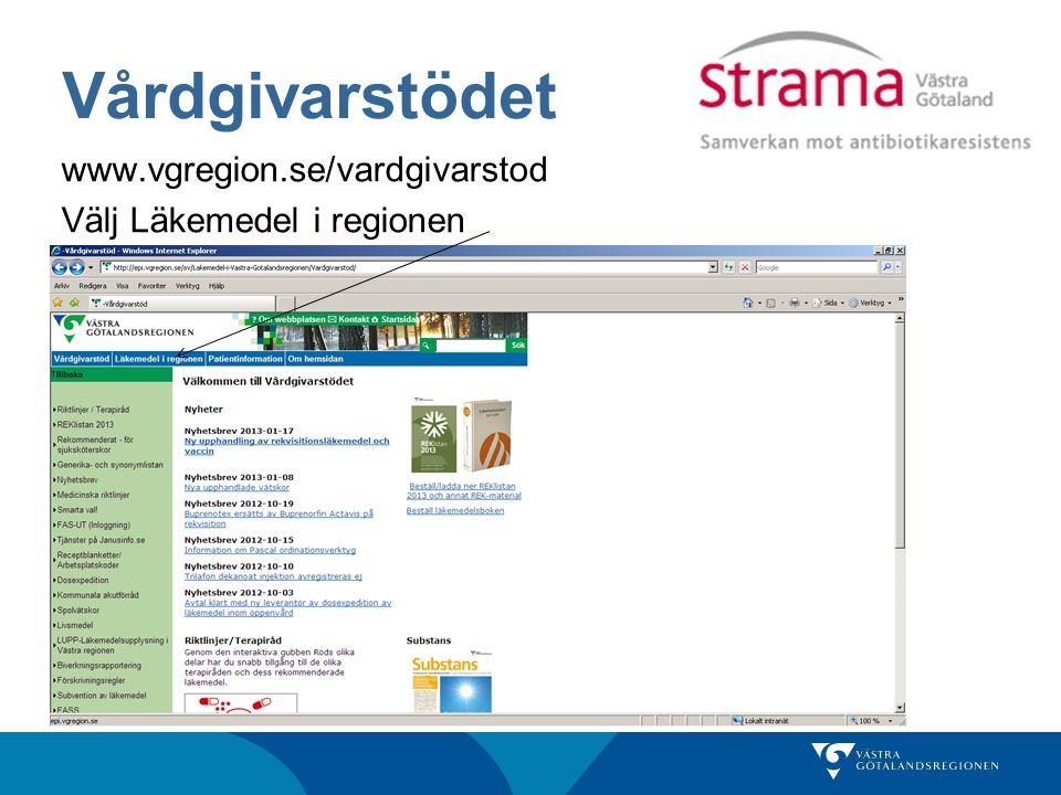 Vårdgivarstödet www.vgregion.se/vardgivarstod