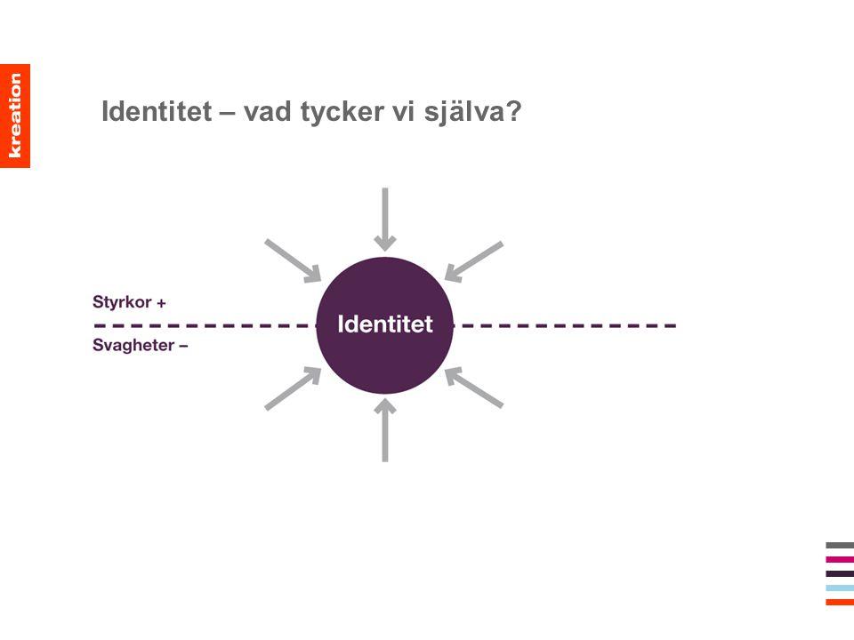 Identitet – vad tycker vi själva