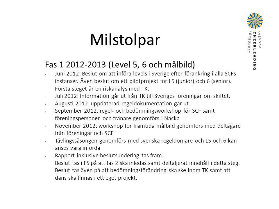 Milstolpar Fas 1 2012-2013 (Level 5, 6 och målbild)