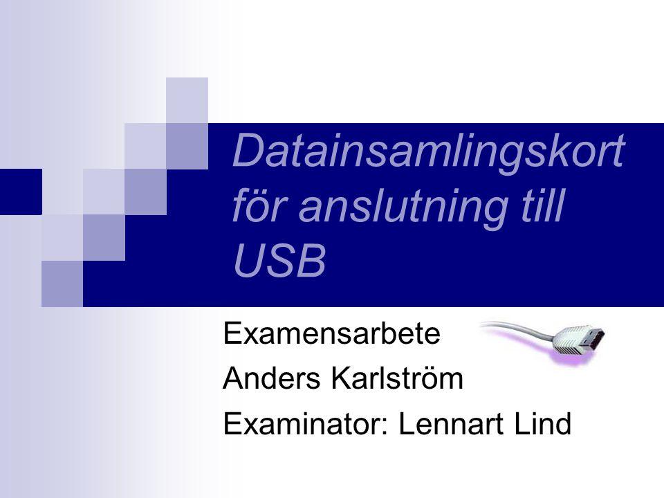 Datainsamlingskort för anslutning till USB