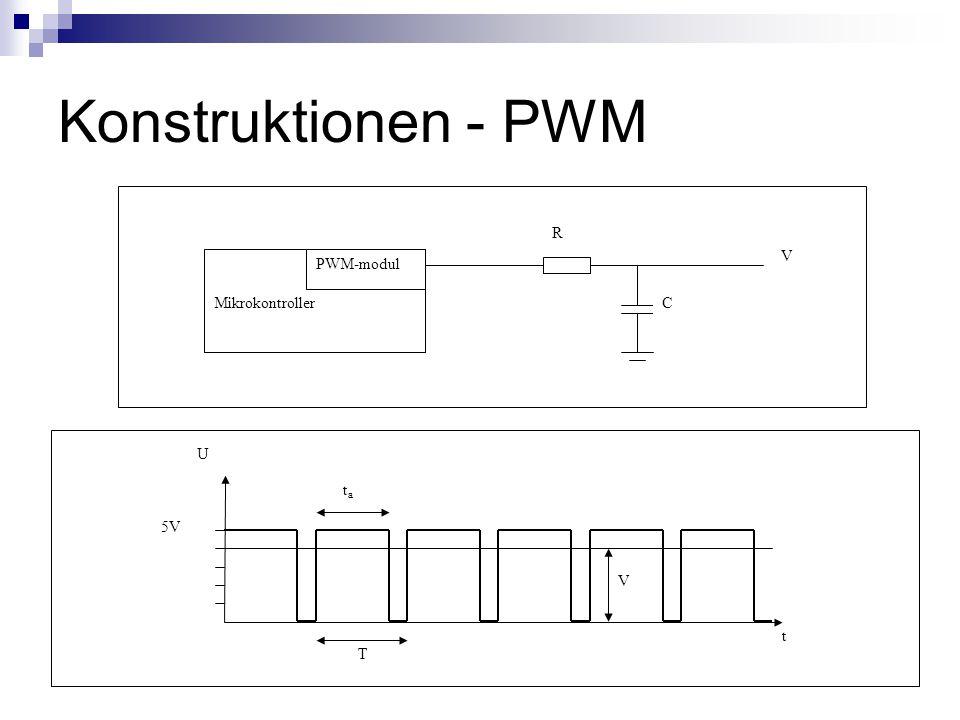 Konstruktionen - PWM Mikrokontroller PWM-modul R C V 5V V T ta t U