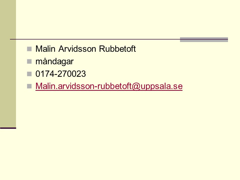 Malin Arvidsson Rubbetoft