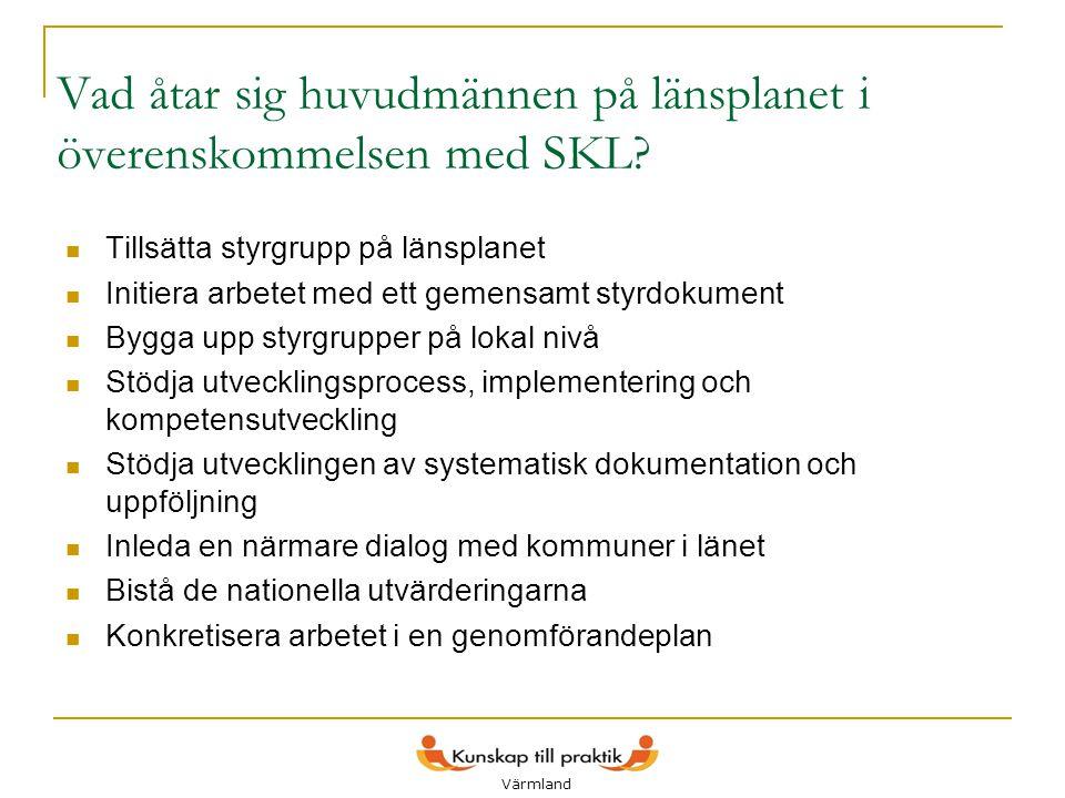 Vad åtar sig huvudmännen på länsplanet i överenskommelsen med SKL