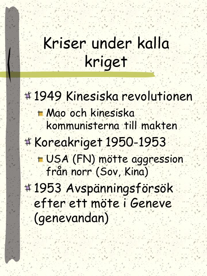 Kriser under kalla kriget