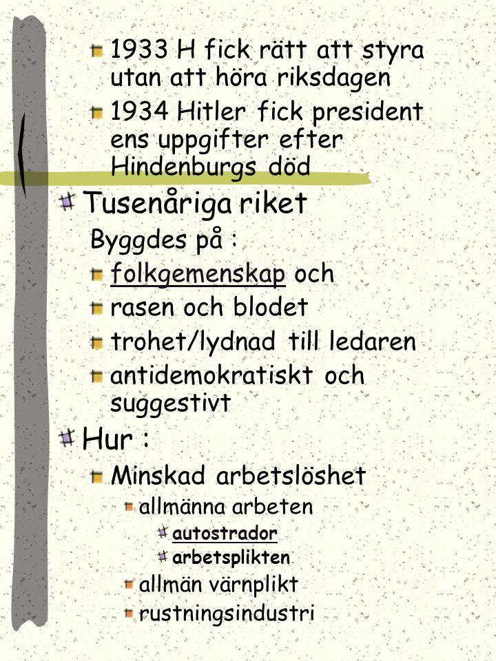 1933 H fick rätt att styra utan att höra riksdagen